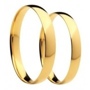 Par De Alianças De Casamento E Noivado Confort Em Ouro 18k