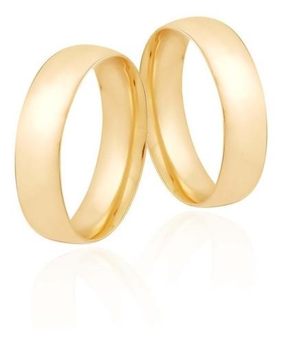 Aliança De Casamento e Noivado Anatômica Confort Em Ouro 18k