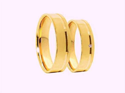 Aliança De Casamento e Noivado Confort Reto Em Ouro 18k 750