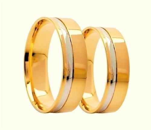 Aliança De Casamento e Noivado Confot Em Ouro 18k 750