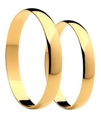 Aliança De Casamento e Noivado Em Ouro 18k 3 mm