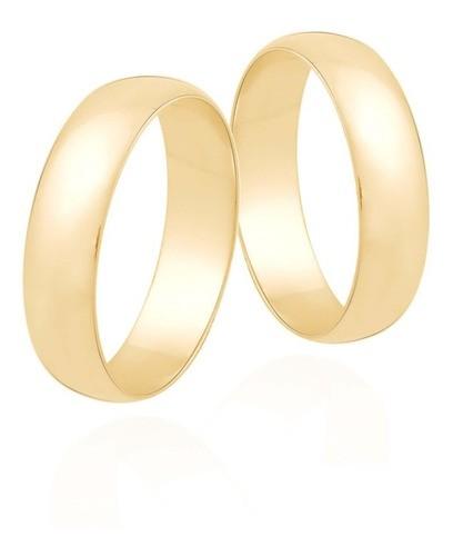 Aliança De Casamento E Noivado Em Ouro 18k 6mm