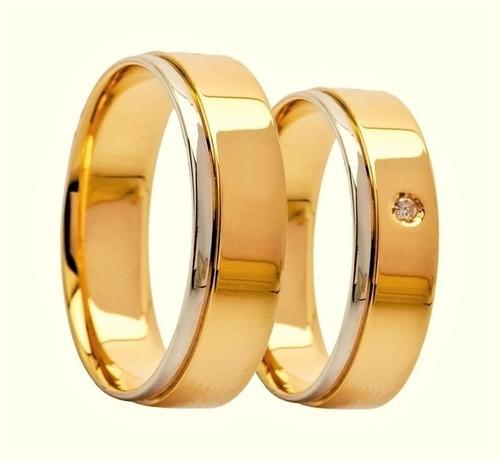 Aliança De Casamento e Noivado Em Ouro 18k 750