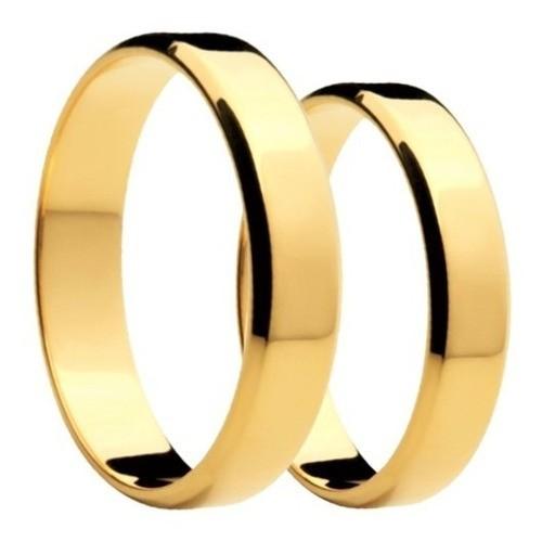 Aliança  De Casamento  Em Ouro 18k 750