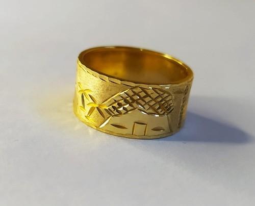 Aliança Escrava Egípcia Light Com 10mm Em Ouro 18k 750