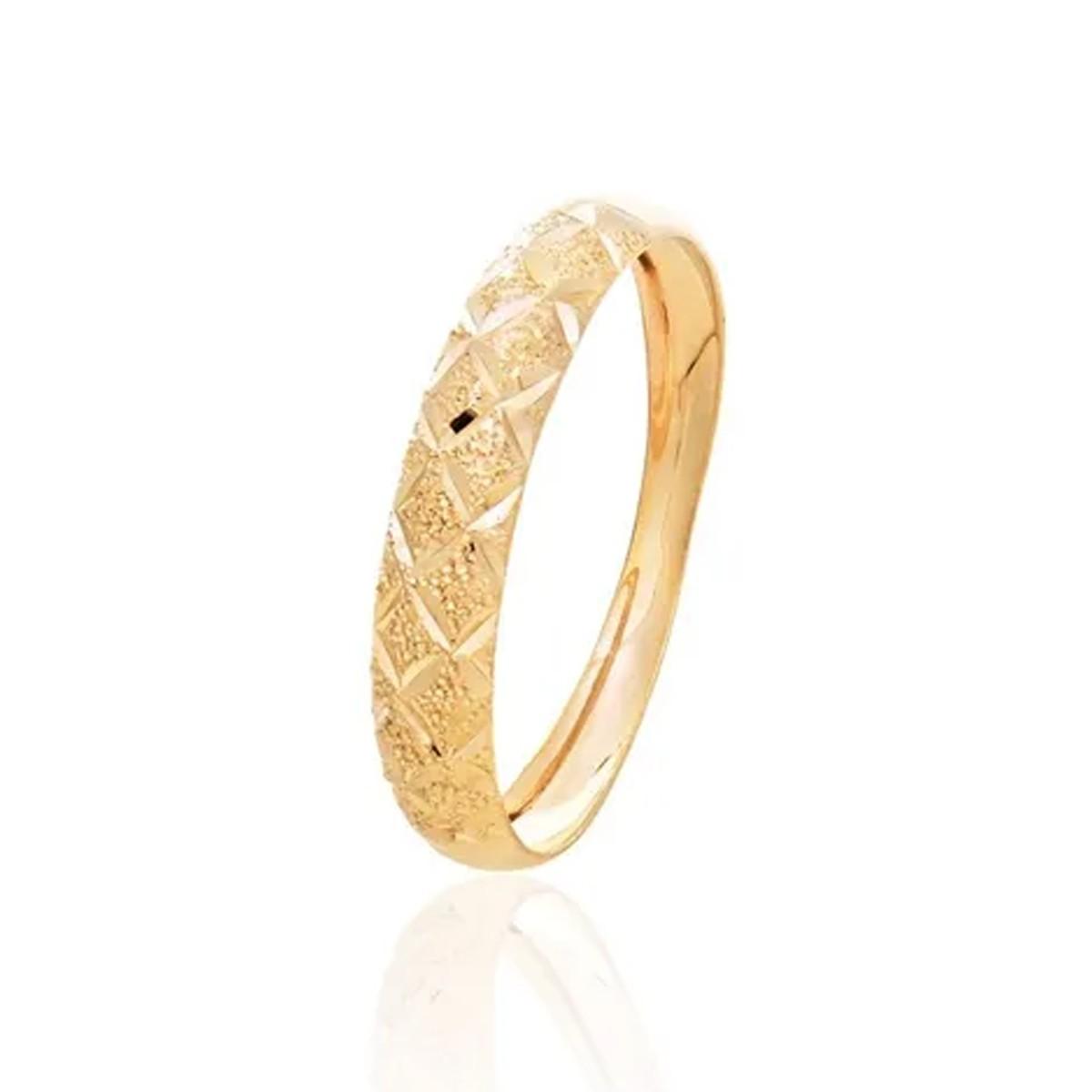 Anel Aparador Em Ouro 18k Diamantado Feminino