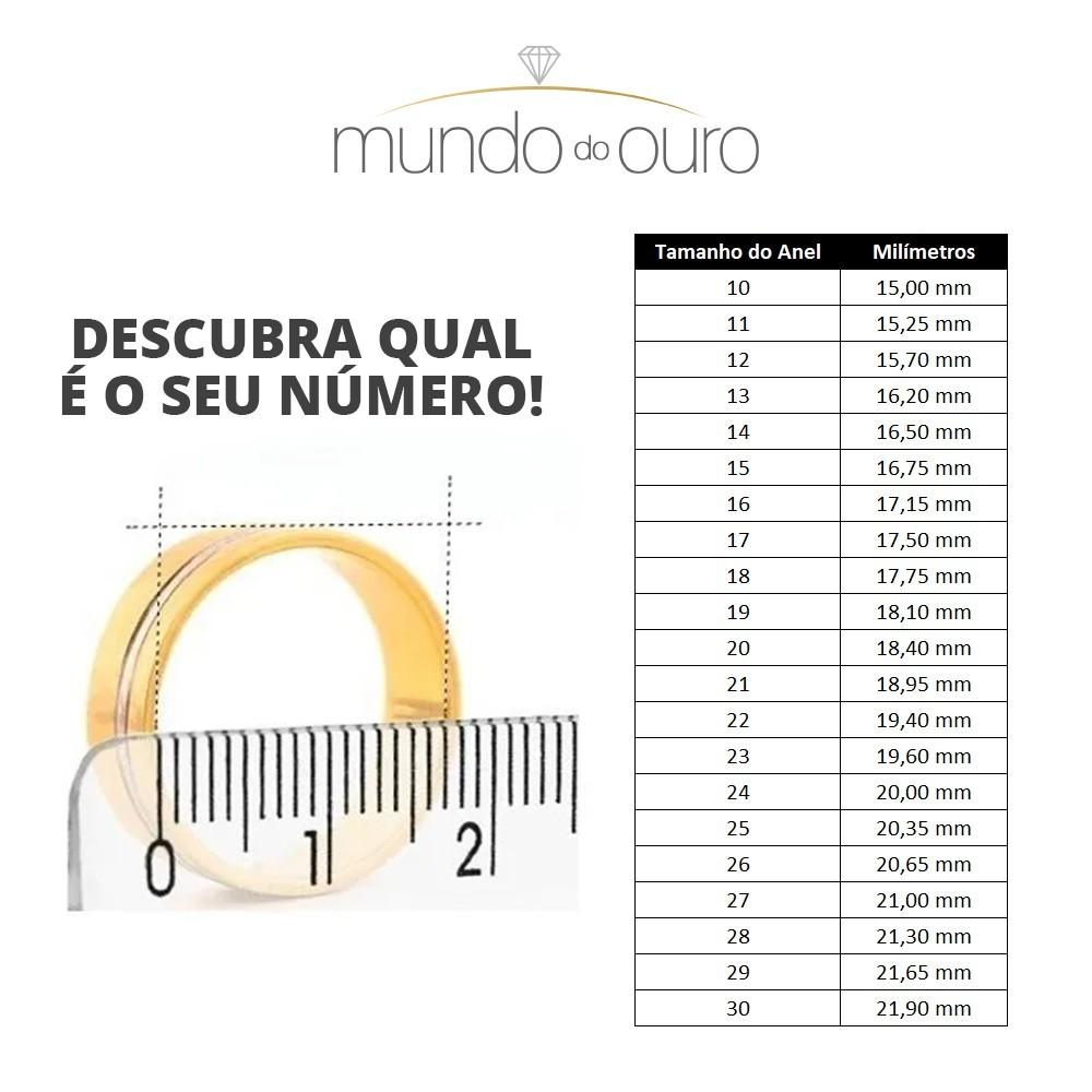 Anel Chuveiro Triangulo + Brinco Cravejado Ouro 18k
