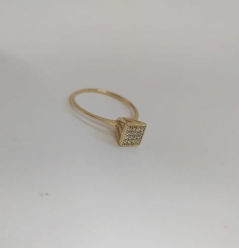 Anel Chuveiro Triangulo Ouro 18k 750