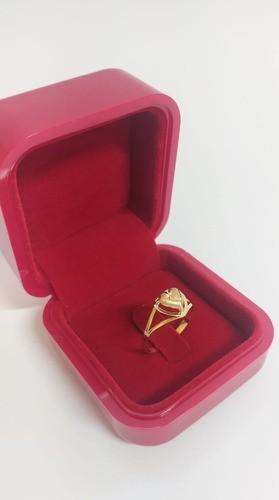 Anel Coração Charme Galeria   Em Ouro 18k 750