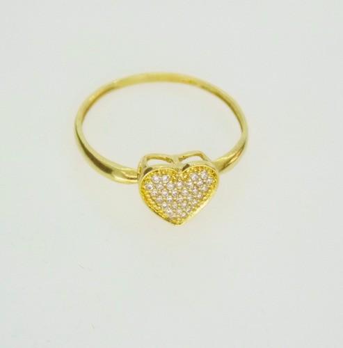 Anel Coração Feminino Ouro 18k Fabricação Própria