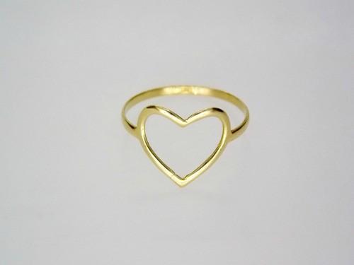 Anel Coração Ouro 18k