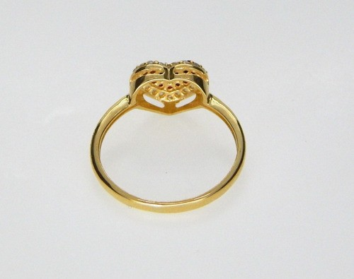 Anel Coração Vermelho Feminino Ouro 18k Fabricação Própria