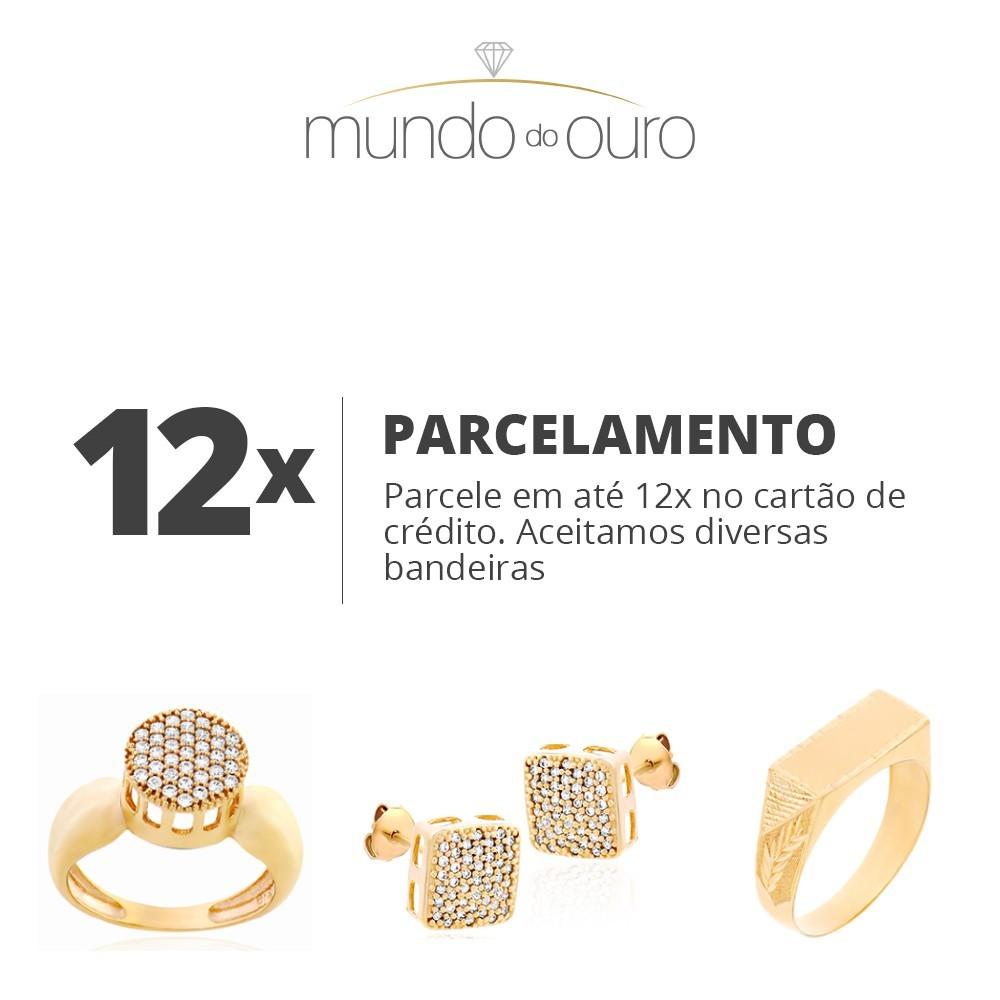 Anel De Ouro 18k Par De Aparadores Diamantados Femininos