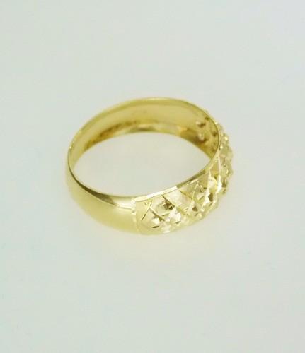 Anel Em Ouro 18k Diamantado Bolinha Pronta Entrega