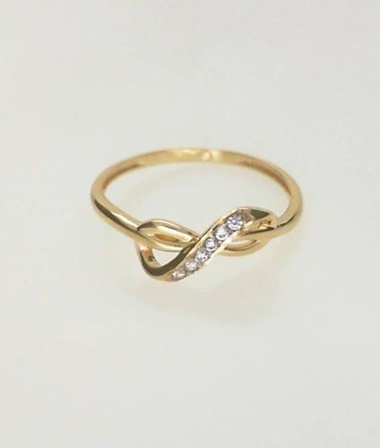 Anel Infinito Feminino Ouro 18k Fabricação Própria