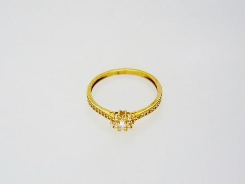 Anel Solitário Ouro 18k Cravejado Com Zircônia