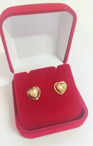 Brinco Coração Galeria  Em Ouro 18k