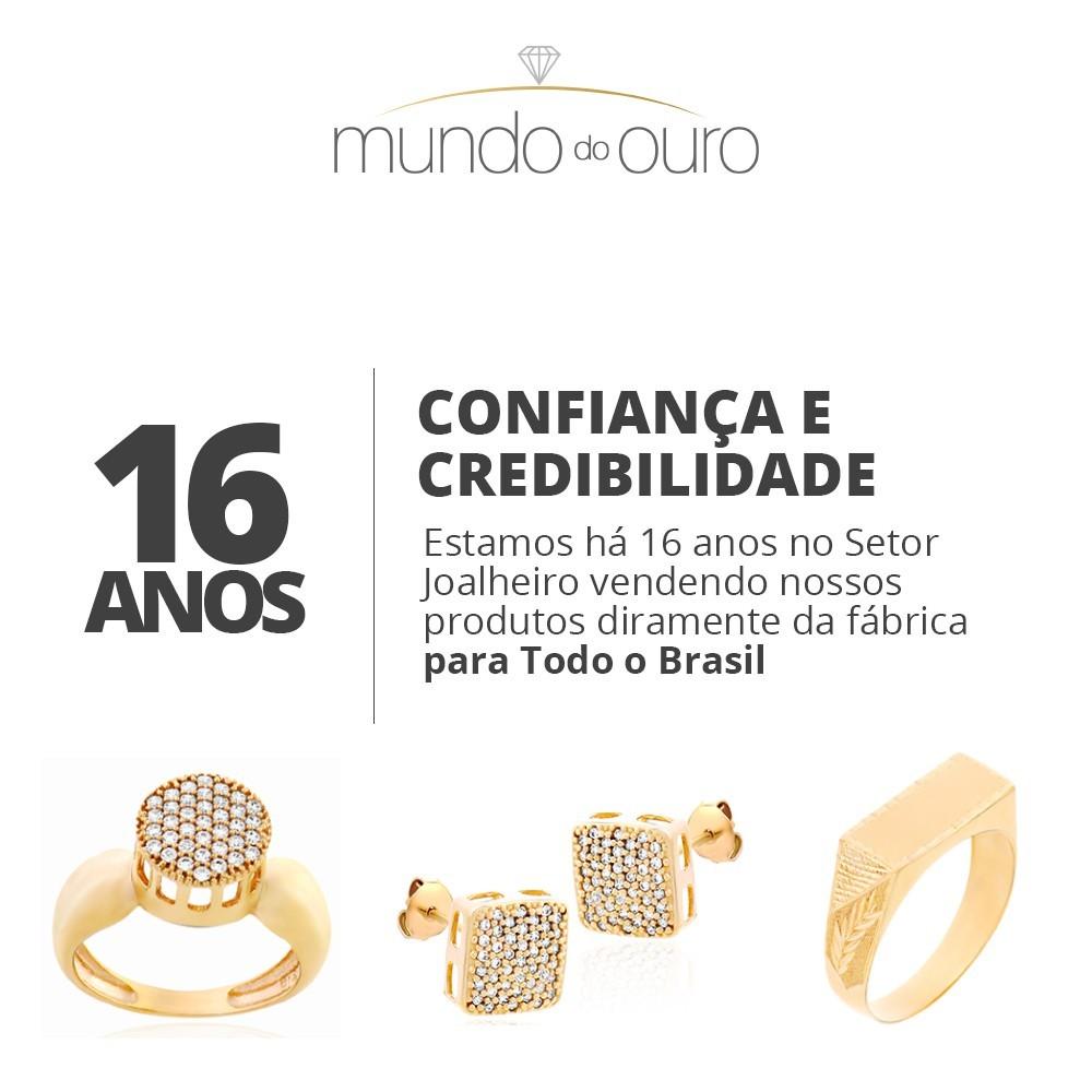 Brinco  Triangulo Chuveiro Em Zircônias Ouro 18k 750