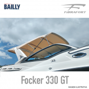 Capota de Proa BAILLY Fibrafort Focker 330 GT Linha Premium