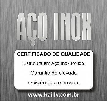 BASE FRONTAL DE AÇO INOX ESTAMPADO