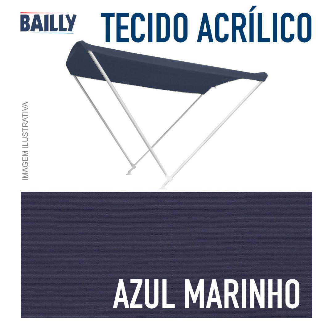 Capota Náutica BAILLY Linha Clássica 2 Arcos com 1,30 m de largura