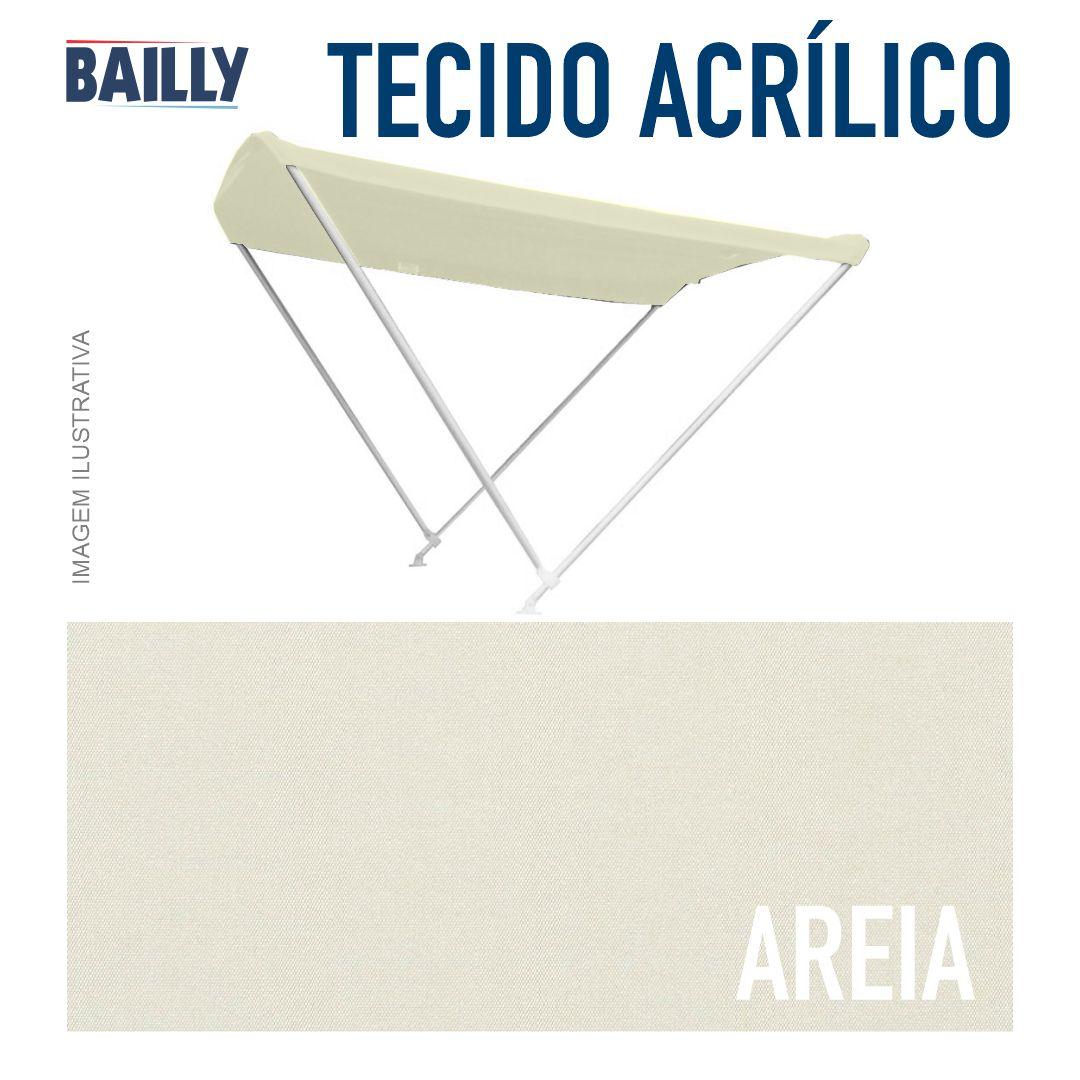 Capota Náutica BAILLY Linha Clássica 2 Arcos com 1,40 m de largura