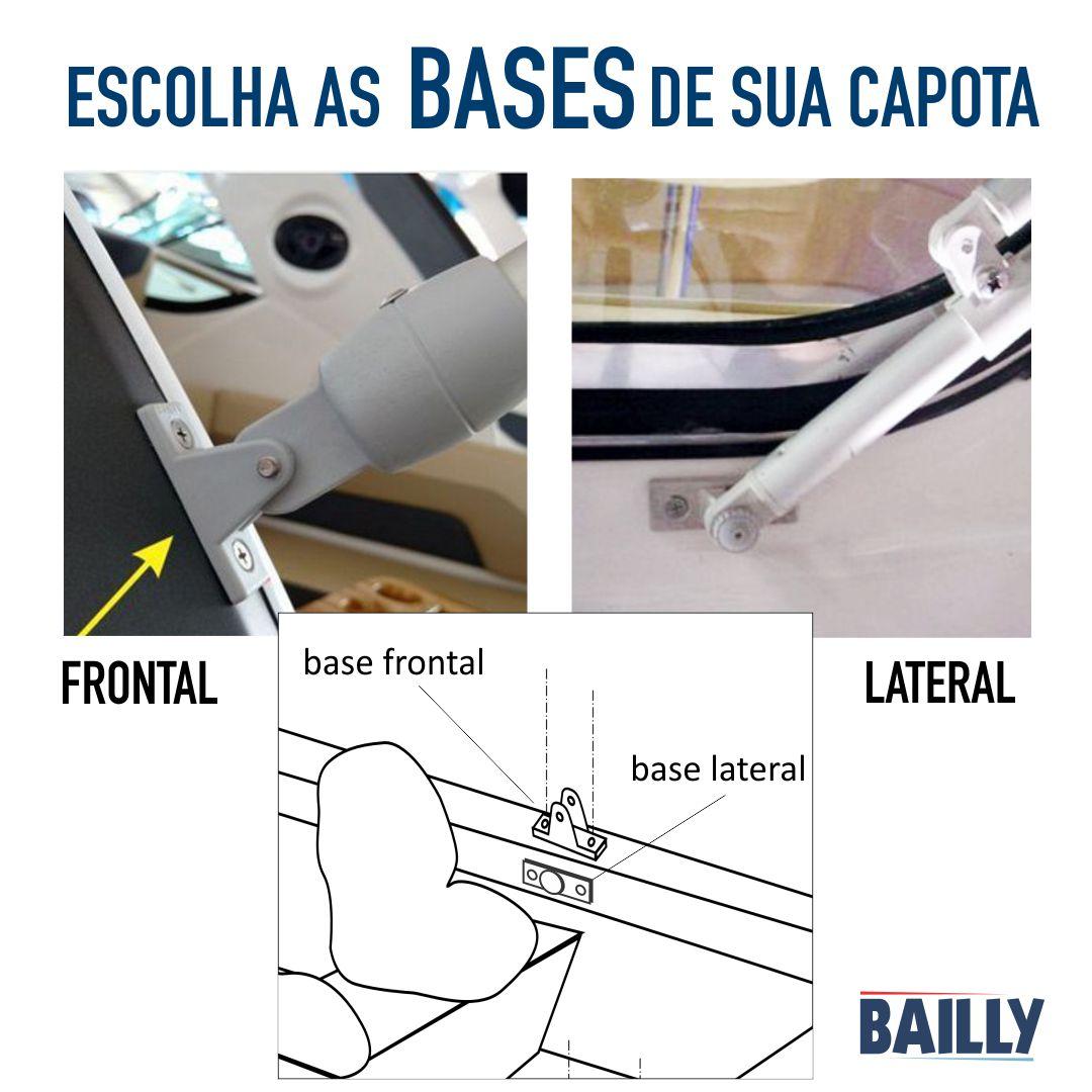 Capota Náutica BAILLY Linha Clássica 3 Arcos com 1,30 m de largura.