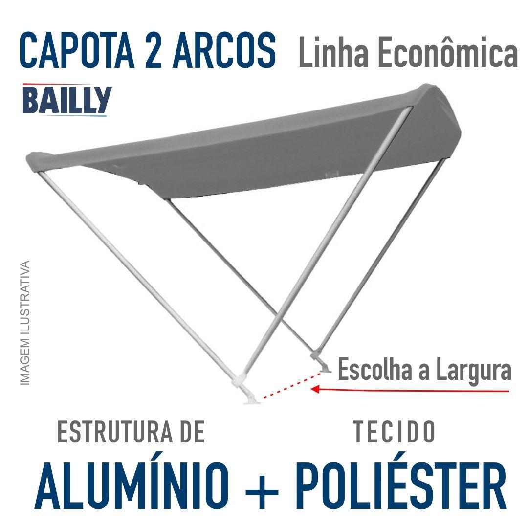 Capota Náutica BAILLY  Linha econômica de 2 arcos