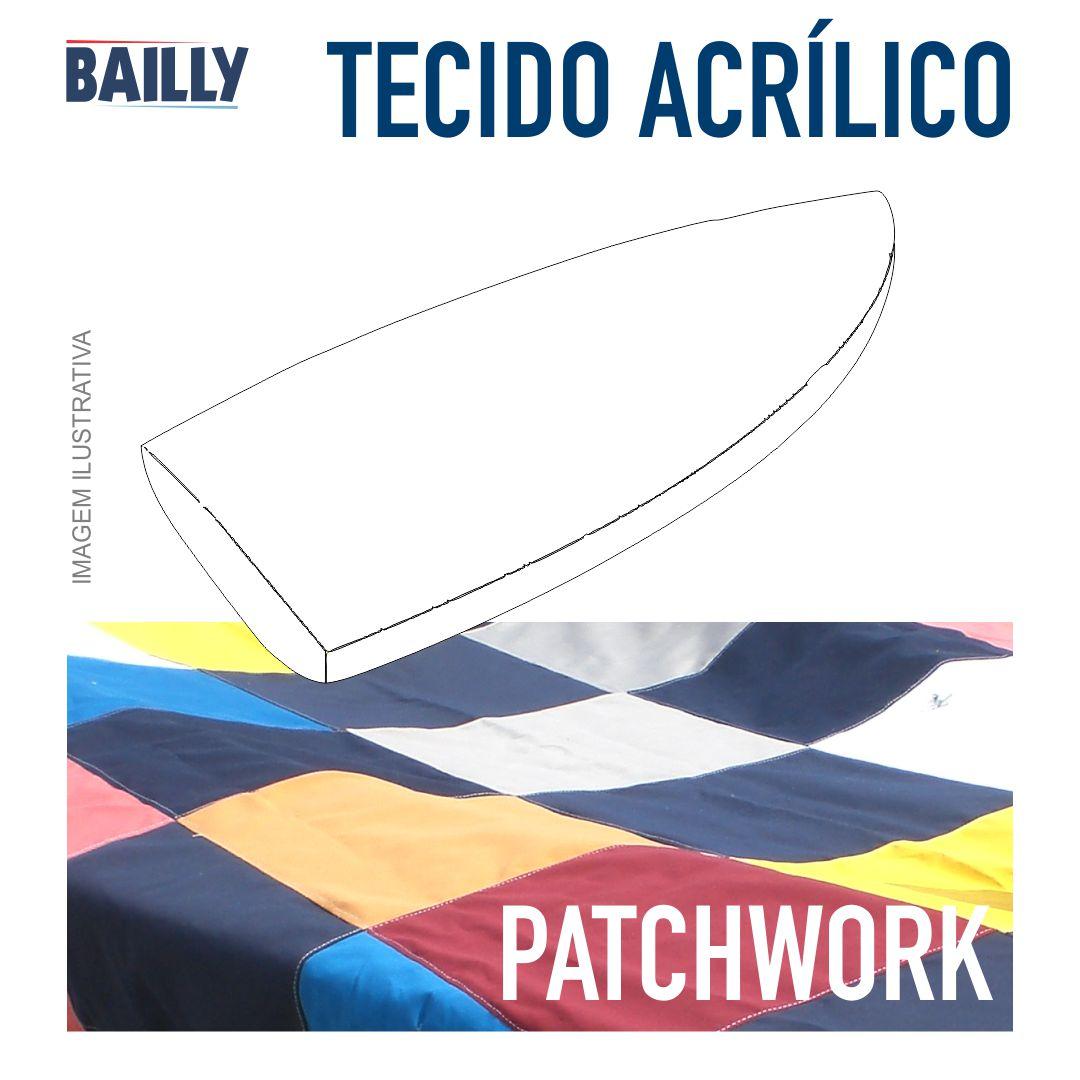 CLASSE 420 - CAPA DE COBERTURA PATCHWORK TECIDO ACRÍLICO