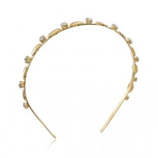 Tiara Búzios com Strass - Coleção Búzios - Mina de Fé Joias - Banhada a Ouro 18k