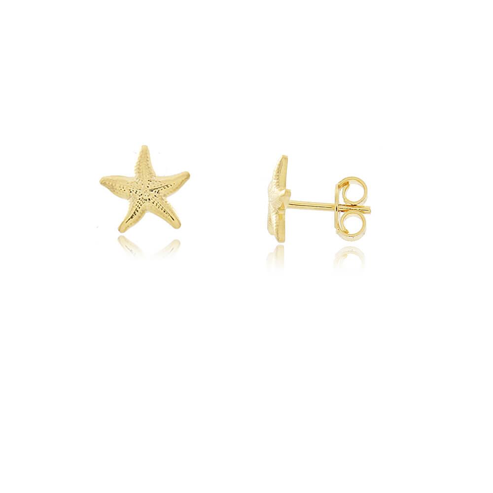 Brinco Estrela do Mar - Mina de Fé Joias - Banhado a Ouro 18k