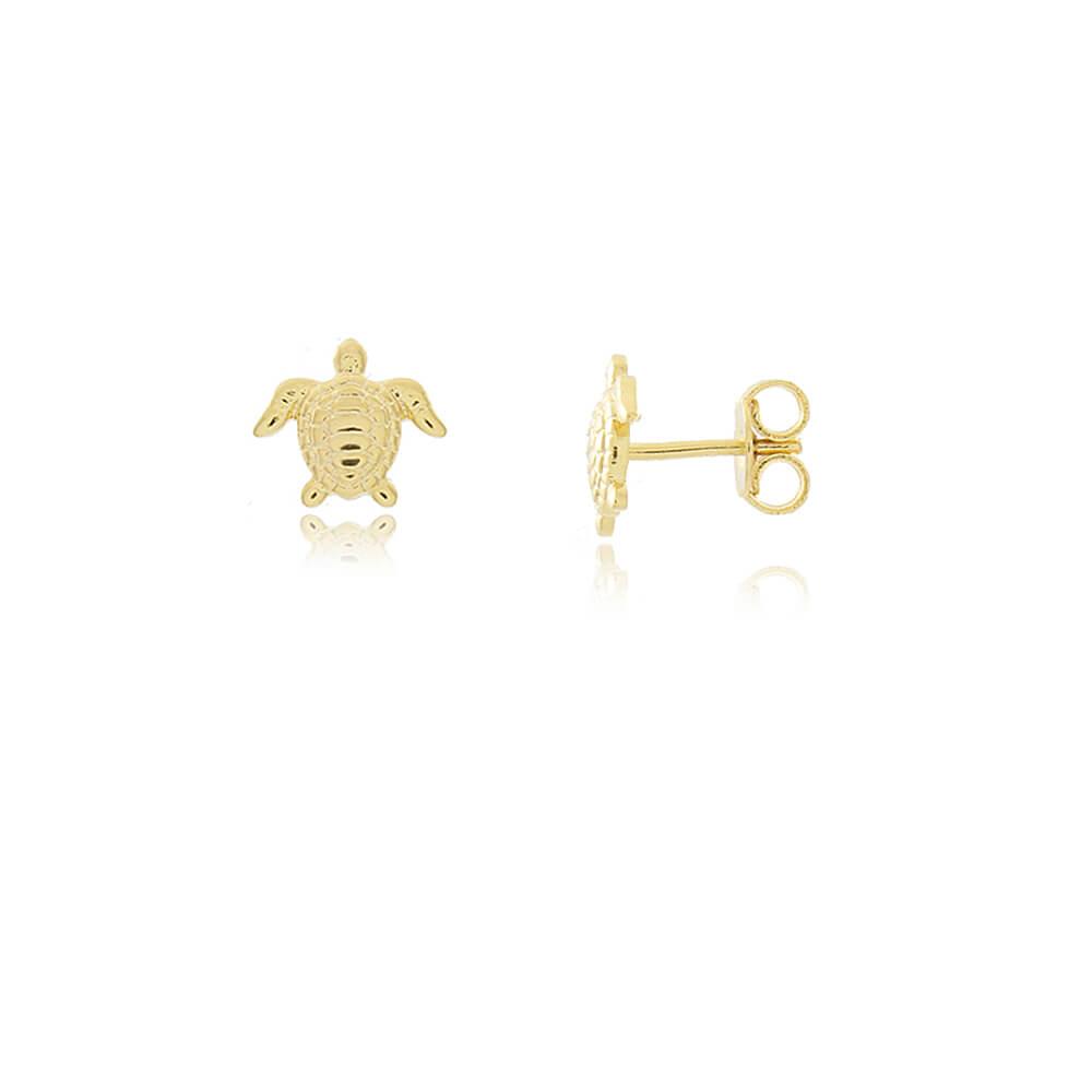 Brinco Tartaruga Marinha - Mina de Fé Joias - Banhado a Ouro 18k