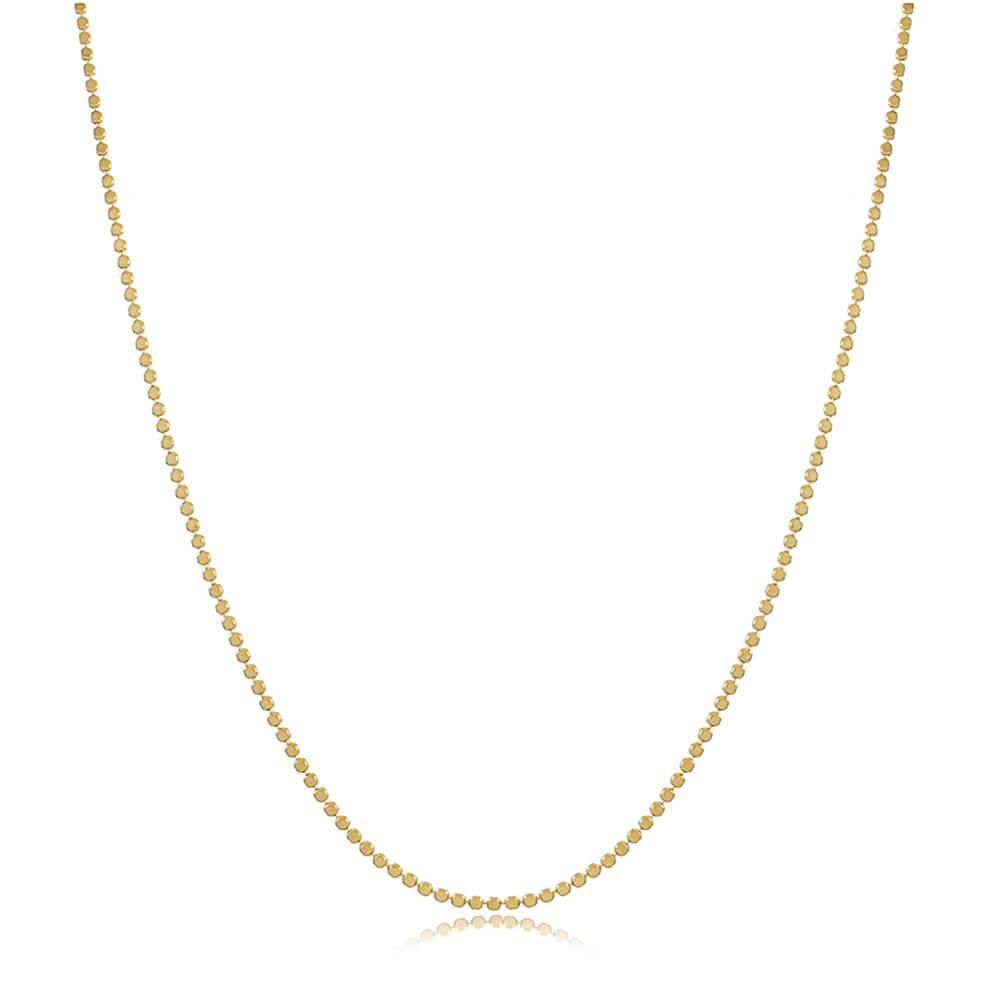Colar Bolinhas Achatadas - Coleção Essenza Elementar - Mina de Fé Joias - Banhado a Ouro 18k