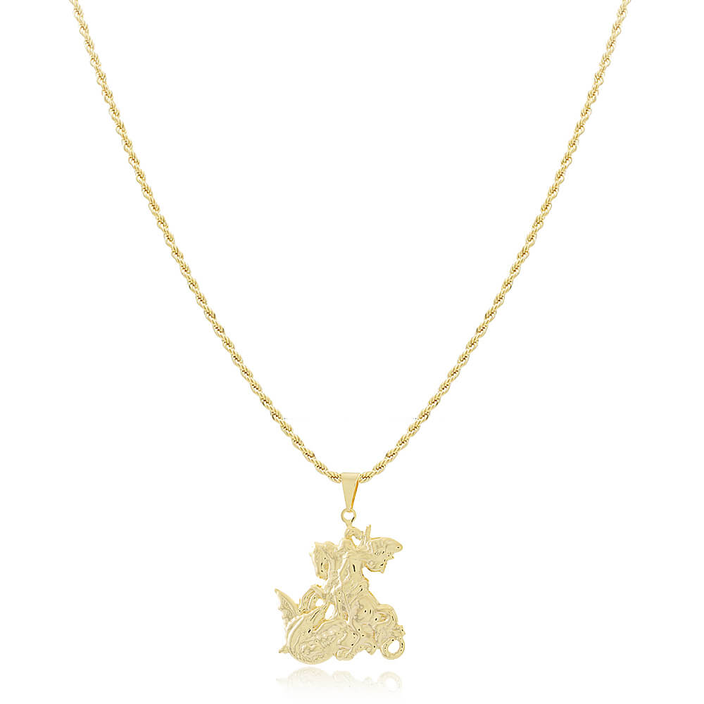 Colar São Jorge - Coleção Salve Jorge - Mina de Fé Joias - Banhado a Ouro 18k