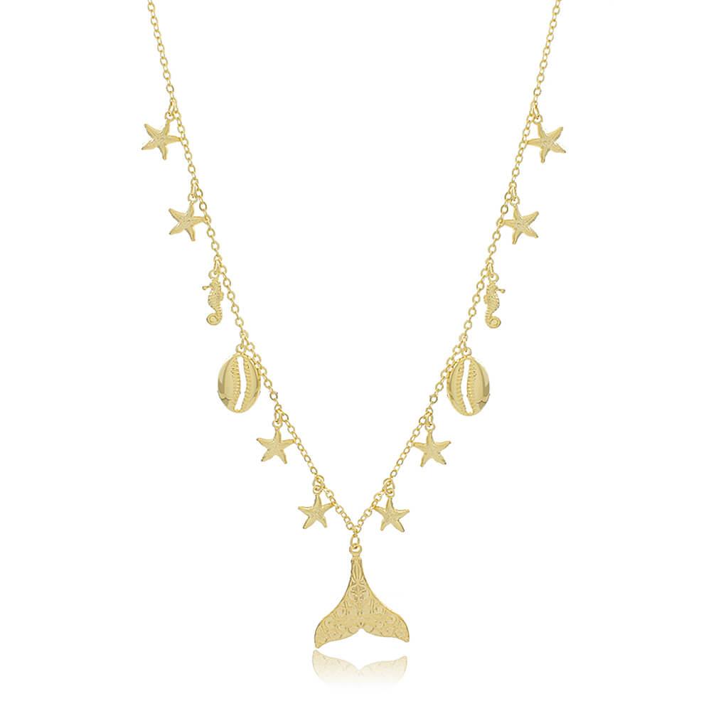 Colar Sirena - Coleção Sirena - Mina de Fé Joias - Banhado a Ouro 18k