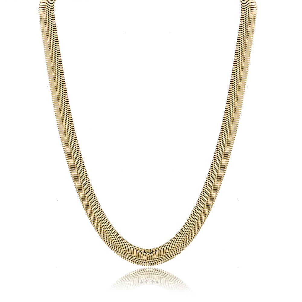 Colar Snake - Coleção Essenza Elementar - Mina de Fé Joias - Banhado a Ouro 18k