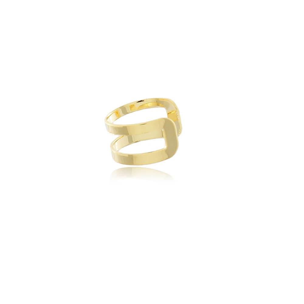 Piercing Fake Aro Vazado - Coleção Essenza Elementar -  Mina de Fé Joias - Banhado a Ouro 18k