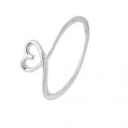 Anel Coração Laçado Mini em Prata