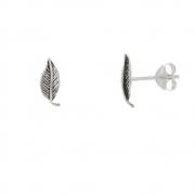 Brinco Folhinha Pequeno em Prata