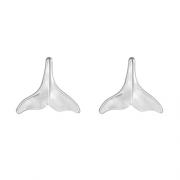 Brinco Rabo de Baleia em Prata