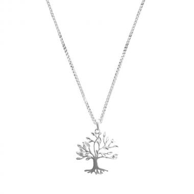 Colar de Prata Árvore da Vida