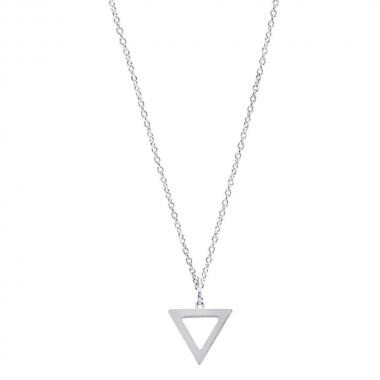 Colar de Prata Triângulo Vazado
