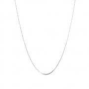 Corrente Cabelo de Anjo 45 cm em Prata