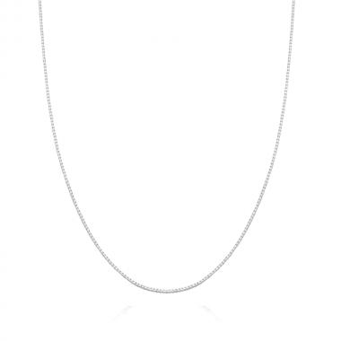 Corrente de Prata Veneziana 40 cm
