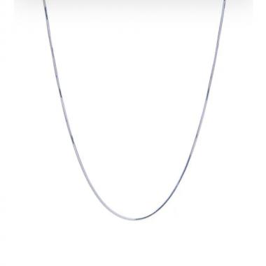 Corrente Lacraia 45 cm em Prata
