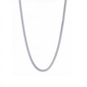 Corrente Lacraia Laminada 45 cm em Prata