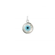 Pingente Olho Grego 1,1 cm em Prata