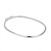 Pulseira Bracelete Lisa 2 mm de Prata