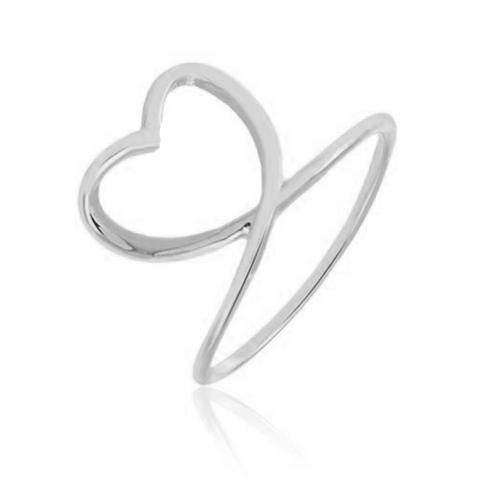 Anel Coração Laçado em Prata