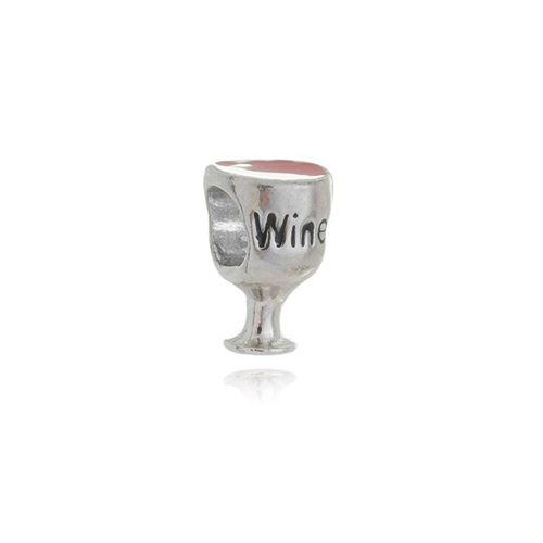 Berloque Separador Taça de Vinho em Prata